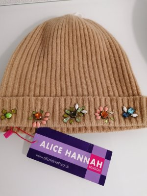 Topshop Knitted Hat beige