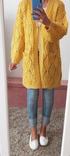 Lamer & Co Płaszcz z dzianiny żółty