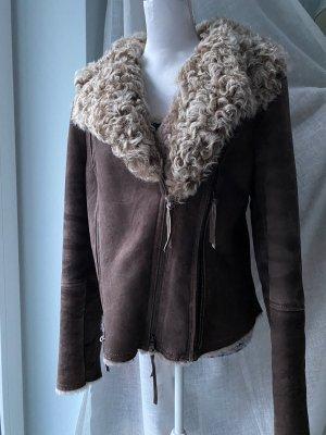 Elisa Cavaletti Leather Jacket dark brown leather