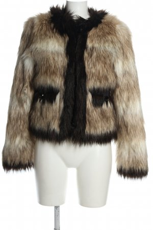 Lamia H&M Fake Fur Jacket color gradient casual look