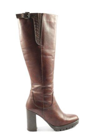 Lamica High Heel Stiefel braun Business-Look