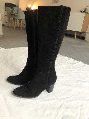 Lamica Stiefel mit Absatz 37 schwarz Rauleder