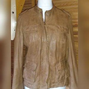 Lamm Lederjacke Jacke Größe 40 42 M L cognac braun von Montes