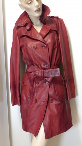 Lamm Nappaleder Trenchcoat, Used Look, Gr. 36(34)