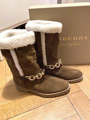 Burberry Buty śniegowe brązowy-złoto