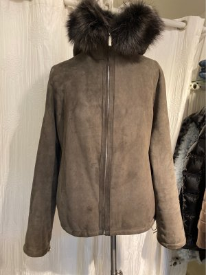 Arma Women Fur Jacket anthracite-taupe pelt