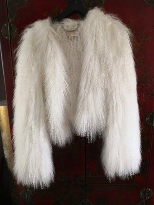 Michael Kors Futrzana kurtka biały