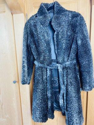 Abrigo de piel gris Pelaje