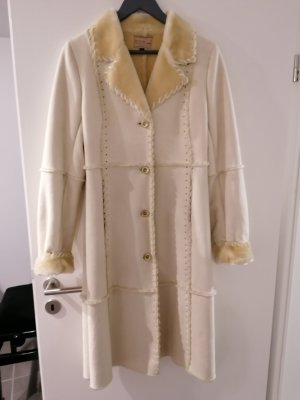 Lucy Fake Fur Coat white-natural white