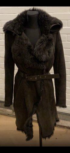 Patricia Pepe Pelt Coat black brown