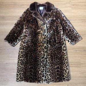 Lammfell Mantel  Leoparden-Muster