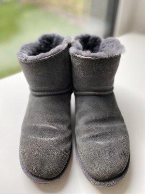 Futrzane buty szary