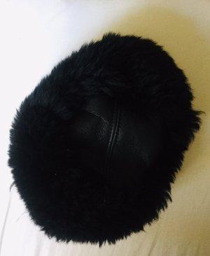 Unbekannte Marke Sombrero de piel negro-marrón oscuro
