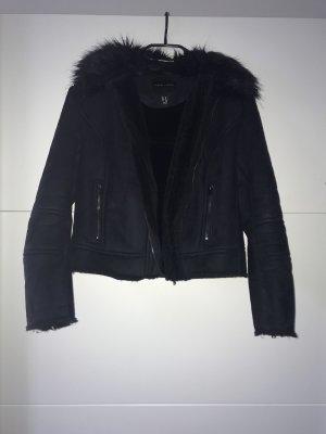 New Look Fake Fur Jacket black polyester