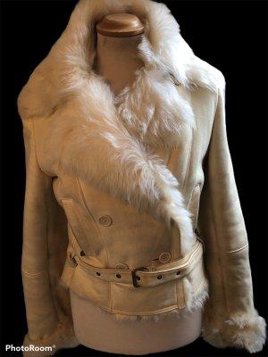 Patrizia Pepe Fur Jacket natural white