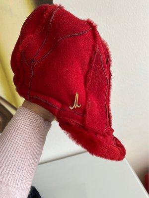 Mühlbauer Futrzana czapka ciemnoczerwony