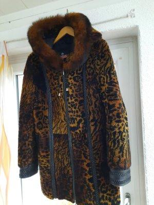 Manteau de fourrure bronze-brun fourrure