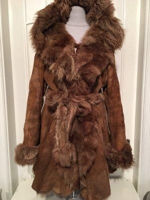 unbekannte Pelt Coat light brown-cognac-coloured