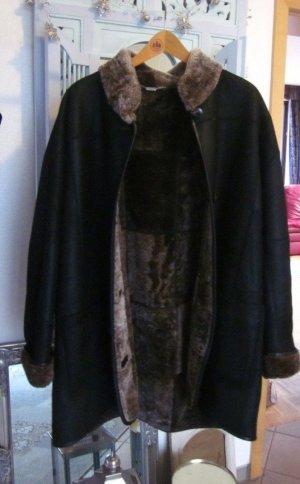 Christ Winter Coat dark brown leather