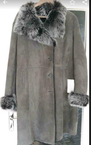 Jilani Futrzany płaszcz szary