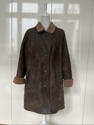 Inga Barth Pelt Coat camel-black brown leather