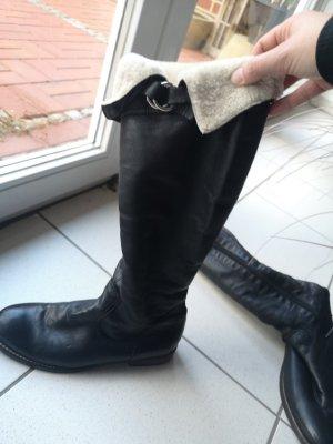Donna Carolina Botas de piel negro