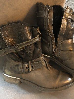 Air Step Laarsjes met rits donkergrijs-zwart Leer