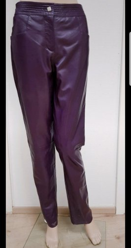 ae elegance Leather Trousers dark violet
