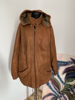 Christ Leather Jacket cognac-coloured-brown leather