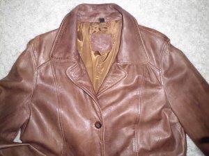 TCM Abrigo de cuero marrón