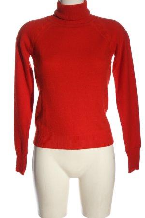Lamponi Kasjmier trui rood kabel steek casual uitstraling