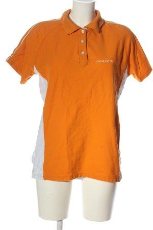 LANCASTER Camiseta tipo polo naranja claro-blanco letras impresas look casual