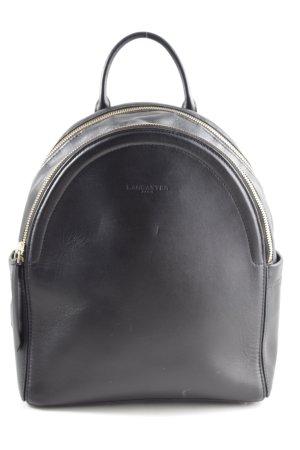 LANCASTER Schulrucksack schwarz-goldfarben schlichter Stil