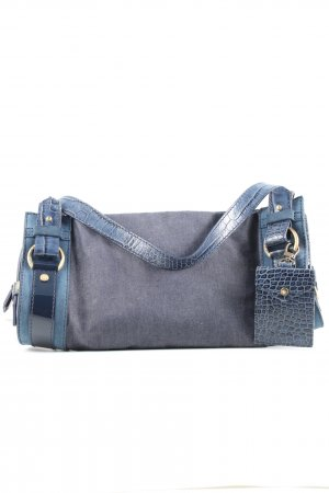 Lancel Henkeltasche blau-hellgrau Business-Look