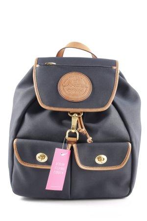 Lancel Notebookrucksack schwarz-braun Casual-Look