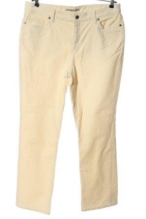 Land's End Pantalon en velours côtelé crème style décontracté