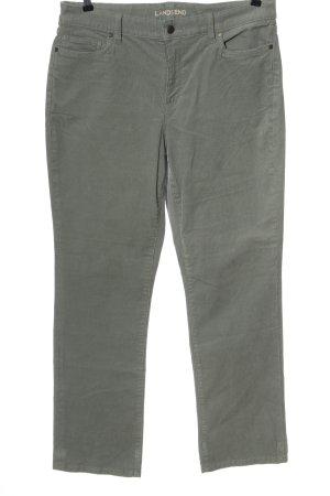 Land's End Pantalon en velours côtelé gris clair élégant
