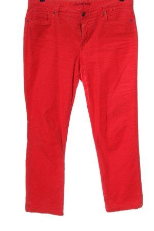 Land's End Pantalon en velours côtelé rouge style décontracté