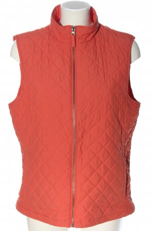 Land's End Down Vest red quilting pattern casual look