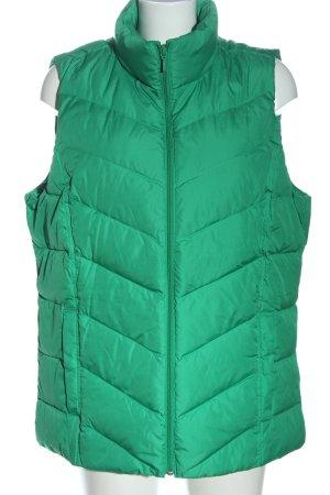 Land's End Pikowana kamizelka zielony Pikowany wzór W stylu casual