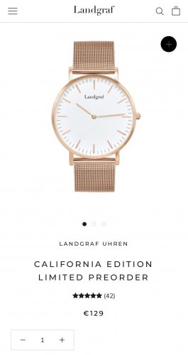 Landgraf Reloj con pulsera metálica color oro-blanco