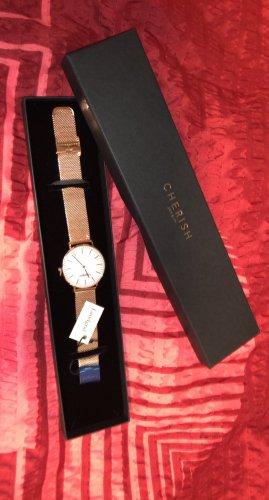 Landgraf Reloj con pulsera metálica rosa-blanco