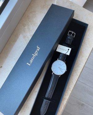 Zegarek automatyczny czarny-biały