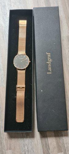 Landgraf Zegarek z metalowym paskiem złoto