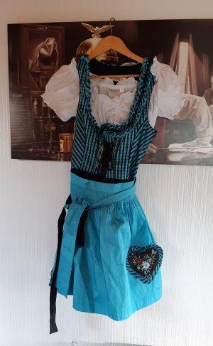 Landhaus by C&A Vestido Dirndl negro-turquesa