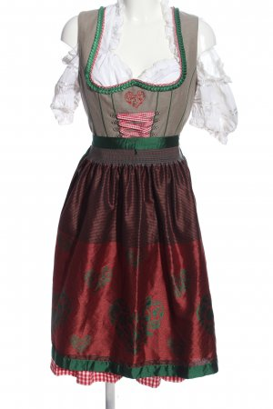 Landhaus Vestido Dirndl estampado temático estilo extravagante