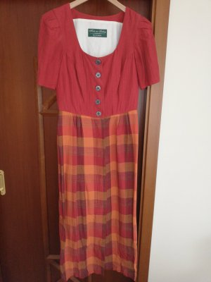 Dirndl dark orange-russet linen