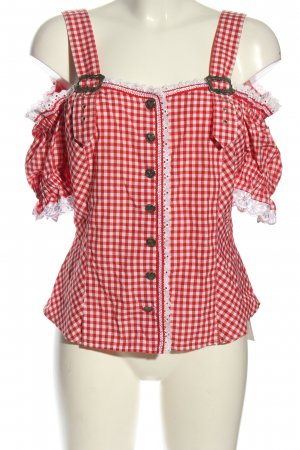Landhaus Traditional Blouse red-white check pattern classic style