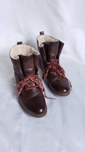 Landrover,Leder- Winterstiefelette,Boots,braun,Plüschfutter, Gr. 39