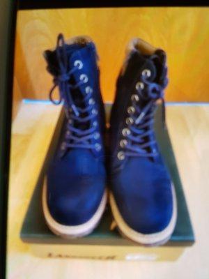 Landrover Halfhoge laarzen donkerblauw